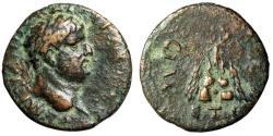 """Ancient Coins - Domitian AE19 of Caesarea, Cappadocia """"Mt. Argaios, Wreath Atop"""" 77/8 AD"""