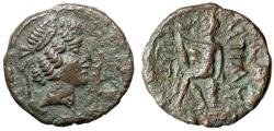 """Ancient Coins - Kings of Characene: Attambelos IV AE27 """"Portrait & Herakles Seated"""" VF"""