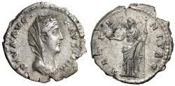 """Ancient Coins - Diva Faustina I Senior AR Denarius """"AETERNITAS Providentia"""" Great Style"""