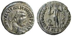 """Ancient Coins - Licinius I AE Follis """"IOVI CONSERVATORI Jupiter, Eagle"""" Alexandria RIC 10"""