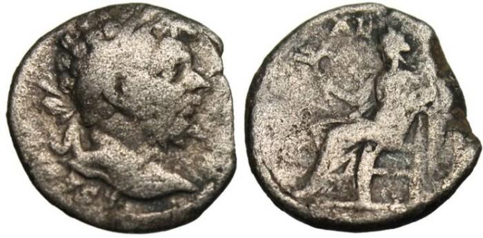 """Ancient Coins - Septimius Severus Silver Denarius """"Pax Seated"""" RIC 118"""