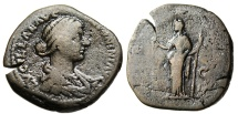 "Ancient Coins - Lucilla AE Sestertius ""Venus Seated, Apple in Hand"" Rome RIC 1767"