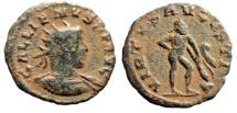 "Ancient Coins - Gallienus AE Antoninianus ""VIRTVS AVGVSTI Hercules, Club"" Antioch RIC 672 Desert"