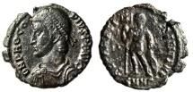 """Ancient Coins - Procopius AE3 """"REPARATIO FEL TEMP Labarum, Chi Rho"""" Heraclea RIC 7 Scarce"""