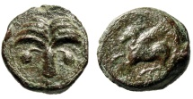 """Ancient Coins - Carthaginians (Carthage) in Sicily AE17 """"Palm Tree, Dates & Pegasus Flying"""""""