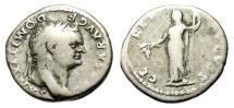 "Ancient Coins - Domitian as Caesar Silver Denarius ""CERES AVGVST Ceres, Poppy & Corn"" RIC 976"