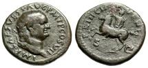 """Ancient Coins - Vespasian Dupondius """"PRINCIP IVVENT Horseback"""" Domitian Reverse Mule Very Rare"""