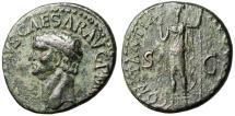 """Ancient Coins - Claudius I AE As """"CONSTANTIAE AVGVSTI Constantia"""" Rome RIC 111 VF"""