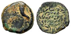 Ancient Coins - Hasmonean Kingdom of Judea: Alexander Jannaeus AE Prutah Meshorer Group R VF
