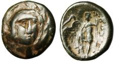 """Ancient Coins - Boeotia, Thebes AE18 """"Persephone Facing & Poseidon With Trident"""" VF Scarce"""