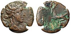 "Ancient Coins - Cimmerian Bosporos, Phanagoreia AE20 ""Artemis & Stag Kneeling"" aVF"