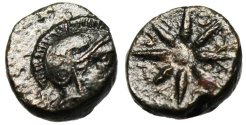 """Ancient Coins - Troas, Kolone AE10 """"Athena & Star, Ethnic in Rays"""" Scarce VF"""