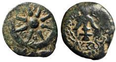 "Ancient Coins - Alexander Jannaeus AE Prutah ""Star of Eight Rays & Anchor"" Jerusalem Nice VF"
