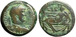 "Ancient Coins - Hadrian AE Drachm ""Tyche Reclining, Rudder"" Egypt, Alexandria 132 AD Fine"