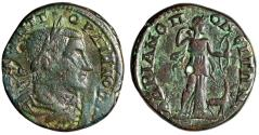 """Ancient Coins - Gordian III AE26 """"Artemis With Bow, Stag at Feet"""" Hadrianopolis, Thrace Rare"""