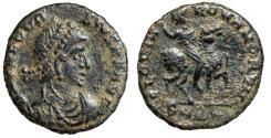 "Ancient Coins - Theodosius I ""GLORIA ROMANORVM Equestrian, Horseback' Cyzicus RIC 29a VF"