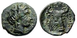 "Ancient Coins - Euboia, Histiaia AE13 ""Nymph & Head of Bull Facing, Fillet"" Scarce Good VF"