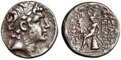 "Ancient Coins - Seleukid Kingdom: Alexander I Balas AR Drachm ""Apollo Seated"" 152-145 BC"