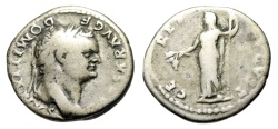 "Ancient Coins - Domitian as Caesar Silver Denarius ""CERES AVGVST Ceres, Poppy & Corn"" RIC 976"