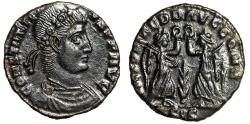 "Ancient Coins - Constantius II AE15 ""Two Victories, Wreath, Palm"" Siscia RIC 194 Choice EF"