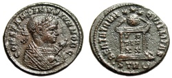 """Ancient Coins - Constantine II AE19 """"Consular bust, Eagle Scepter / Altar"""" Trier RIC 412 Rare"""