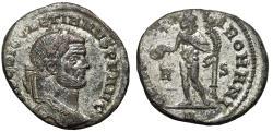 "Ancient Coins - Diocletian Silvered Follis ""Genius R-S"" Rome 297-298 AD RIC 71a Scarce"