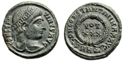 """Ancient Coins - Constantine I The Great AE19 """"DN CONSTANTINI MAX AVG wreath, VOT XXX"""" Heraclea"""