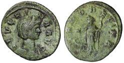 "Ancient Coins - Severina AE As Wife of Aurelian ""Juno, Peacock"" Rome RIC 7 Scarce VF Green"