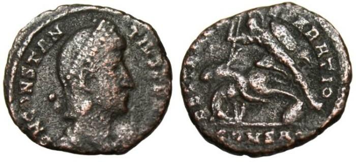 "Ancient Coins - Constantius II AE3 ""FEL TEMP REPARATIO CONSA"" Constantinople RIC 135"
