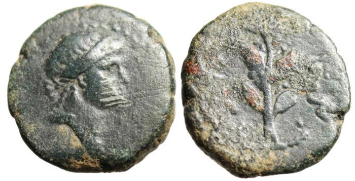 """Ancient Coins - Syria, Antioch Pseudo-Autonomous Issue (Under Roman Rule) """"Artemis & Branch"""""""
