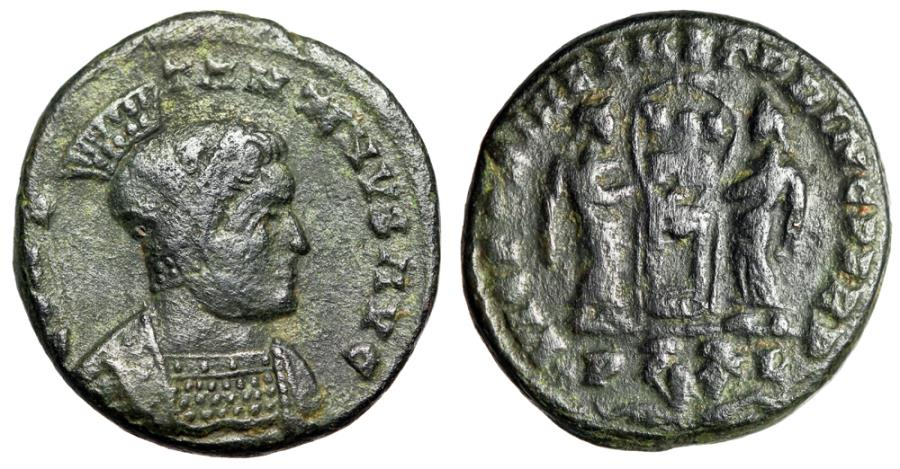 """Ancient Coins - Constantine I The Great """"Two Victories, Captives Bound in Exergue"""" Lyons RIC 79"""
