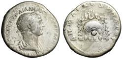 "Ancient Coins - Trajan AR Didrachm ""Mt. Argaeus, Grotto With Cult Stone"" Cappadocia, Caesarea"