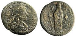 "Ancient Coins - Caracalla AE30 ""Cult Statue of Kore, Poppy, Bucranium, Wreath"" Lydia Sardes Rare"
