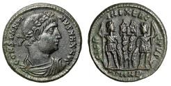 """Ancient Coins - Constantine I The Great AE18 """"Portrait & Two Soldiers"""" Heraclea RIC 116 gVF"""