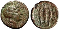 "Ancient Coins - Megaris, Megara AE Tetrachalkon ""Apollo & Kithara"" Dionysios Magistrate Rare"