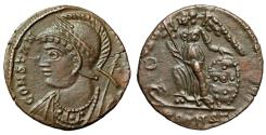 """Ancient Coins - Constantinople City Commemorative """"Victory, O in Field"""" Arles RIC 9 Rare EF"""