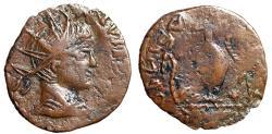 "Ancient Coins - Barbarous Imitative Tetricus II Radiate ""Sacrificial Implements"" Scarce"