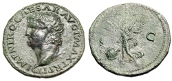 """Ancient Coins - Nero AE As """"Victory, SPQR Shield"""" Rome Mint 66AD RIC 544 VF Tyrannical Emperor"""