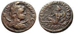 "Ancient Coins - Lydia, Sardes Pseudo-Autonomous ""Men Askenos, Crescent & Hermos Reclining"" Rare"