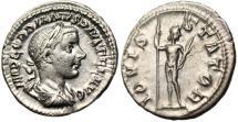 "Ancient Coins - Gordian III Silver AR Denarius ""IOVI STATOR Jupiter"" RIC 112 VF Toned"