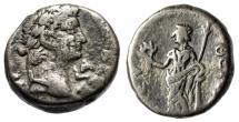 "Ancient Coins - Otho BI Tetradrachm ""Eleutheria Leaningon Column"" Egypt Alexandria 69 AD nVF"