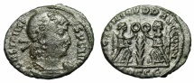 """Ancient Coins - Constantius II  """"VICTORIAE DD AVGGG NN Two Victories, Palm"""" Thessalonica RIC 102"""