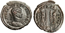 """Ancient Coins - Constantius II AE3 """"GLORIA EXERCITVS Soldiers Ready For War"""" Trier RIC 540 VF"""