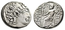 "Ancient Coins - Philip I of Antioch Silver Tetradrachm ""Zeus Nikephoros Seated"" About VF"