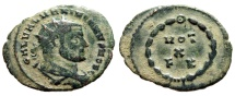 "Ancient Coins - Galerius AE Radiate ""VOT X FK Within Wreath"" Carthage Mint 303 AD RIC 35 aVF"