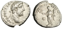 "Ancient Coins - Commodus Silver Denarius ""Fortuna Felix With Caduceus & on Prow"" RIC 235 VF"