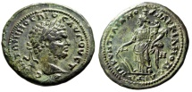 "Ancient Coins - Caracalla AE26 ""Fortuna, Double Cornucopiae (Infant)"" Markianopolis Very Rare VF"