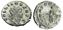 "Ancient Coins - Gallienus Silvered Antoninianus ""FORTVNA REDVX Fortuna"" Rome RIC 193 EF"