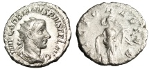 "Ancient Coins - Gordian III Silver Antoninianus ""VICTOR AETER Victory, Captive"" RIC 155 Scarce"
