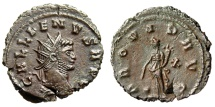 "Ancient Coins - Gallienus AE Antoninianus ""Providentia, X"" Rome 10th Officina RIC 267 EF"